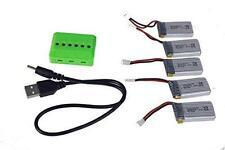 5 in 1 caricatore + 5 x batterie 3.7V 380mAh 25C Tera Mini Hubsan X4 H107C H107D