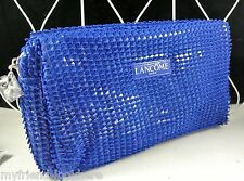 LANCOME Cosmetic Makeup Bag - sapphire blue