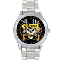 Guns n Roses Watch Guns Watch Citizen Stainless Steel Men's Round Watch