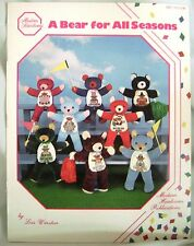 Patterns Cross Stitch A Bear For All Seasons Lois Winston Teddy Heirlooms