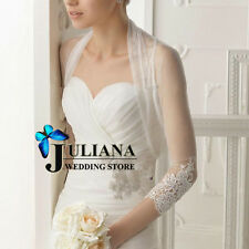 2016 new white and ivory lace jacket wedding bridal bolero wrap shawl