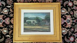 Pastel Landscape with House Painting by WILLIAM FITCH