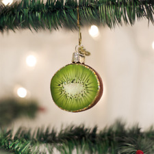 OLD WORLD CHRISTMAS KIWI FRUIT GLASS CHRISTMAS ORNAMENT 28115