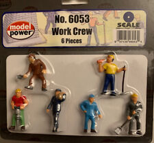 NEW Model Power No. 6053 Work Crew Figures Set ~ FAST Shipping ~ New Price