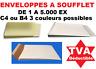 enveloppes, Pochettes à SOUFFLET C4 ou B4 - Blanche, Marron, Duplex De 1 à 5000