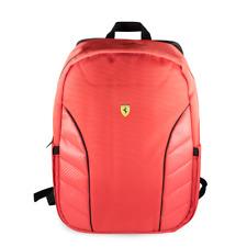 "Ferrari Scuderia Computer BackPack Collection 15"" Red Nylon PU Carbon Finish"
