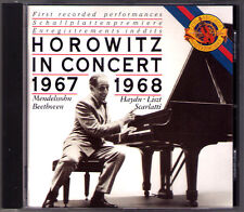 Vladimir Horowitz en concert 1967/8 Beethoven Haydn Scarlatti Mendelssohn CBS CD