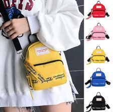 Woman Simple Canvas Shoulder Bags Student Ladies Mini Leisure Crossbody Bags