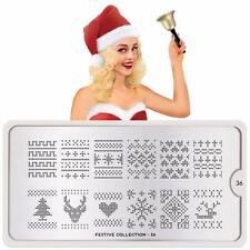 Moyou London Stamping Schablonen Plate Weihnachten Geweih Herz Festive 36