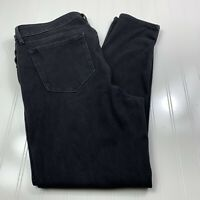 Old Navy Womens Rockstar Super Skinny Jeans Plus Size 16 Black Jack Stretch Pant