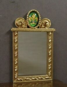 MIRROR ~ Handcrafted ~ Jim Coates~ Dollhouse  ~ 1:12 scale ~ Room Box ~ Artisan