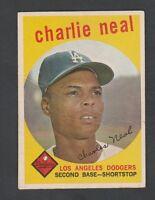 1959 Topps #427 Charlie Neal POOR  C0001179