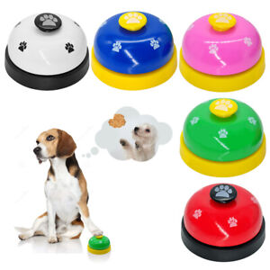 Pet Cat Dog Bell Round Dog Communication Toys for Meal Traning