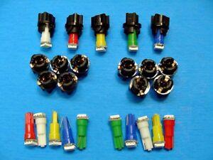 """15 Assorted Mopar Lights Bulbs LEDs 3/8"""" Sockets Instrument Panel Cluster Dash"""