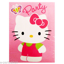 HELLO KITTY INVITES and THANK YOUS (8) ~ Birthday Party Supplies Stationery Pink
