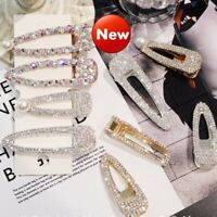 Fashion Girls Crystal Hair Clip Snap Barrette Hairpin Bobby Hair Accessories /MY