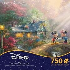 THOMAS KINKADE DISNEY DREAMS PUZZLE MICKEY AND MINNIE SWEETHEART BRIDGE #2903-20