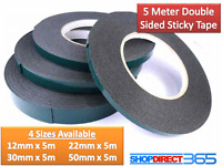 Super Strong Waterproof Black Adhesive Double Sided Foam Tape - Car, Trim, Plate