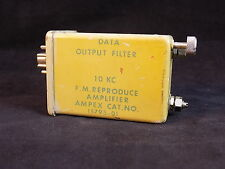 VINTAGE DATA OUTPUT FILTER 10KC F.M REPRODUCE AMPLIFIER AMPEX VERY RARE