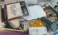 Huge Lot! 12 + Pounds Vintage Needlepoint, Cross Stitch, Embroidery Kits