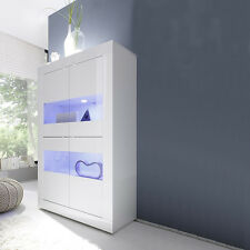 Vetrina 4 ante sportelli contenitore buffet moderna Basic soggiorno salotto sala