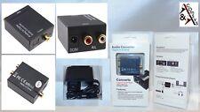 Convertisseur Digital Toslink/SPDIF coaxial sur à Analogique Audio Convertisseur Converter