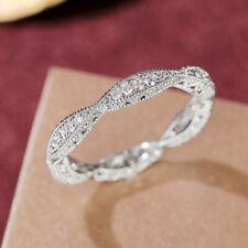 925 Silver Rings for Women Fashion Cubic Zirconia Wedding Jewelry Sz 6-10