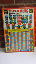 Vintage Silver King gambling punchboard sealed Punch board 45 Coins + Mystery