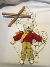 PELHAM PUPPETS RARE SMALL WHITE FACE RUPERT THE BEAR EXCELLENT UNBOXED.