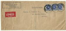 1935  POTATO IMPORTERS EXPRESS COVER 7½d RATE LONDON TO J COLYER IN BRISTOL