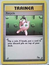 Pokemon Trading Card Game - Fossil Expansion - Recycle