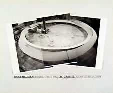 Smoke Rings, 1980 by Bruce Nauman Art Print Leo Castelli Exhibition Poster 22x18
