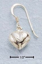 STERLING SILVER small engraved puff heart