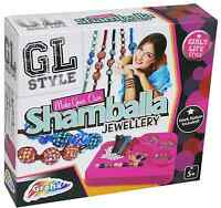 GL Style Make Your Own Shamballa Bead Bracelet Set Childrens Jewellery Craft Kit
