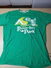 Homage Mt. Rainer National Park T-Shirt Green Mens Size XL