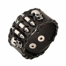 Bracelet Large Ajustable Cranes De Mort Et Balles De Fusil En Reliefs-All Stars