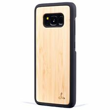 Snakehive® Samsung Galaxy S8 Plus Real Wooden Back Case Cover - Natural Wood