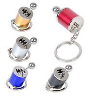 Metal 6-Speed Car Gear Shift Stick Model Keyrings Keychain Key Chain Ring Keyfob