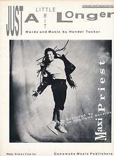 Just A Little Bit Longer - Maxi Priest - 1990 Sheet Music