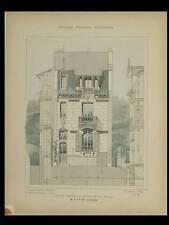 SAINT MAURICE, BRUXELLES - 1906 - PLANCHES ARCHITECTURE - GEORGES GUYON