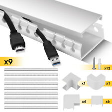 Stageek Cable Management Kit Open Slot On-WallWiring Raceway Duct with Cover TVs