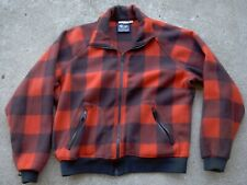 Vintage Columbia Buffalo Plaid Fleece Hunting Lumber Jack Coat Jacket mens XL