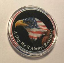 Gaming Chip / Poker Guard commemorating 9/11  TWIN TOWERS FANTASTIC ITEM