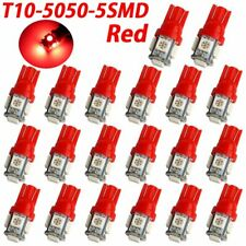 20Pcs Red T10 Wedge 5-SMD 5050 LED 194 Interior Light Bulbs W5W 2825 192 168 12V