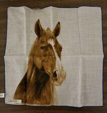 Vintage Robinson & Golluber Hankerchief horse print
