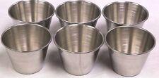 (6 EA) 2.5 OZ Stainless Steel Sauce Cup Ramekin Souffle - Heavy Duty Dressing