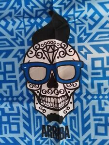 "Arriba Advertising Skull Bandana New Blue 22"" x 22"""