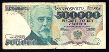 POLAND 500000  Zlotych 1990  P-156  (Prefix  A )  low S N