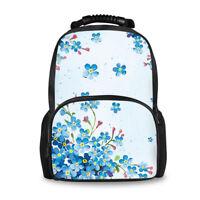 Floral Designs Backpack Women Girls School Shoulder Satchel Bookbags Rucksack