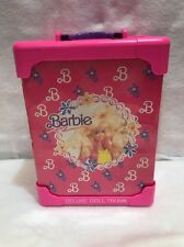 Barbie Deloxe Doll Trunk Wordrobe Closet  Pink Compact storage Case Mattel 1991